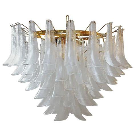 white shell chandelier 1960s mazzega white shell chandelier at 1stdibs