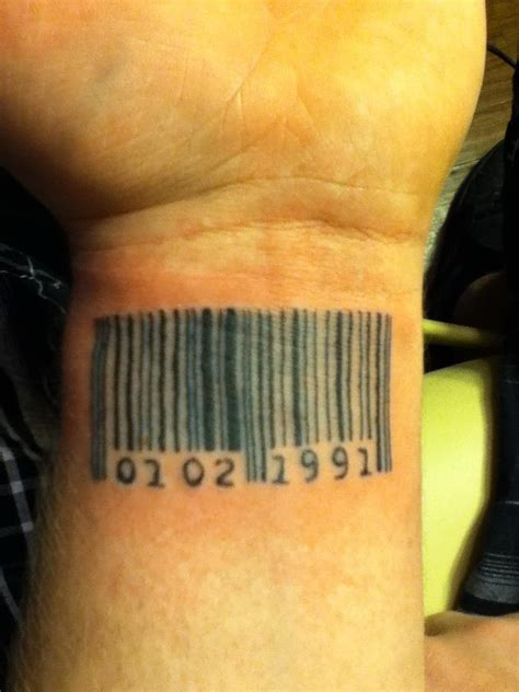 barcode tattoo wrist barcode on wrist tattoos book