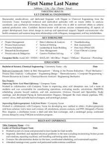 electrical engineer resume sle entry level chemical engineering resume salary sales