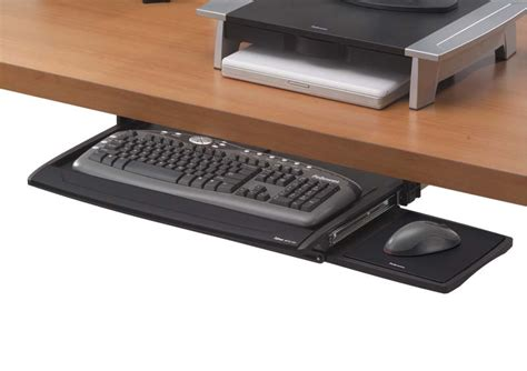 the desk keyboard tray fellowes office suites deluxe keyboard drawer