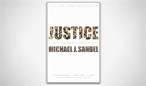 reads michael sandel justice forth district