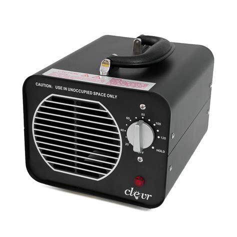 clevr commercial ozone generator industrial air purifier smoke odor 6000mg h 1 year limited