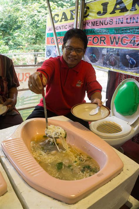 Would You Eat On A Toilet Seat by Inside The Cafe Where You Can Eat Out Of A