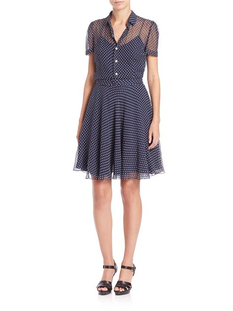 Dress Sisca Fit L Cc 1 polo ralph button shirt dress in blue lyst