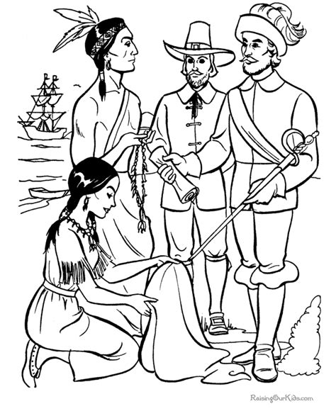 free cute pilgrims coloring pages