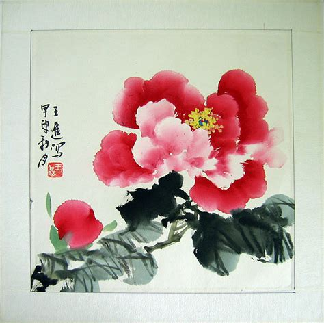 new year flower painting flower paintings peony watercolor