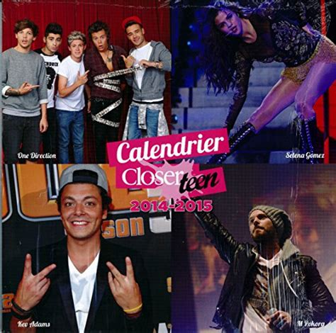 Calendrier M Pokora 2015 Calendrier Closerteen 2014 2015 One Direction Selena