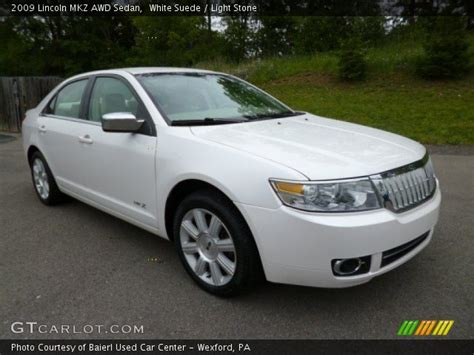 2009 Lincoln Mkz by White Suede 2009 Lincoln Mkz Awd Sedan Light
