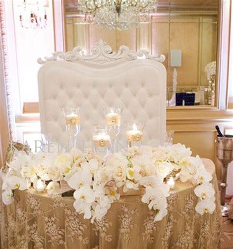 Stylish Sweetheart Table Decorations   Weddings Romantique