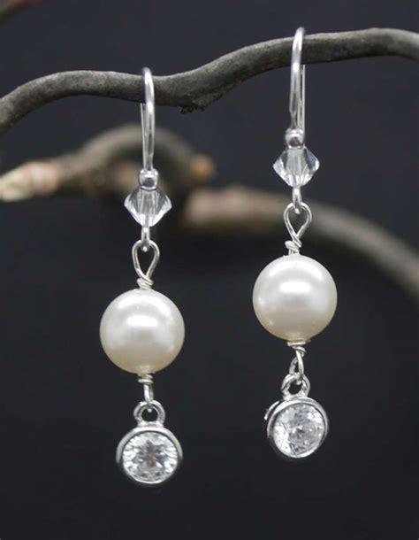 hochzeit ohrringe perlen sch 246 ne ohrringe mit perlen zur hochzeit
