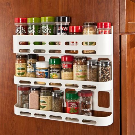 Tiered Spice Racks For Kitchen Cabinets by Wall Hanging Spice Rack 3 Tier Plastic Shelf Kitchen