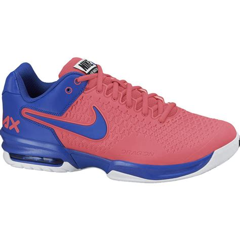 nike mens air max cage tennis shoes pink blue