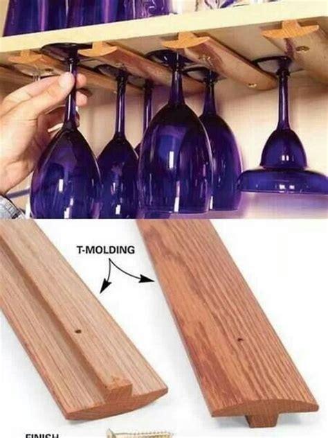 hanging wine glass rack diy pinterest