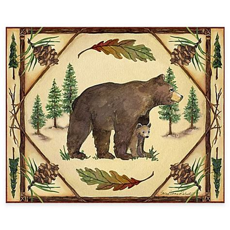 bed bath and beyond woodlands woodlands bear 12 inch x 15 inch glass cutting board bed