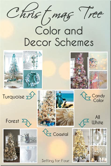 christmas tree color  decor schemes setting