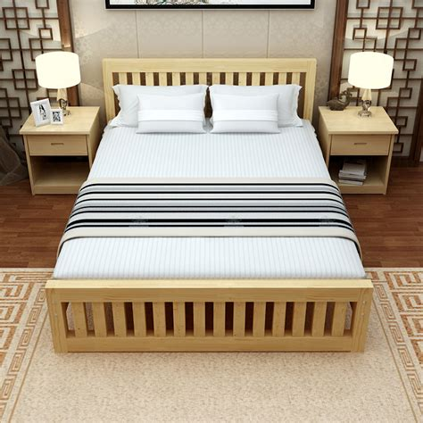 unfinished bed frame pine platform bed frame unfinished pine platform bed