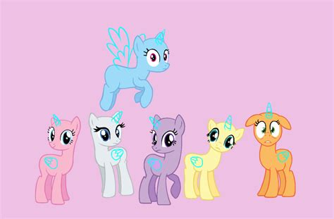 my little pony mane 6 base mlp base mane six by butterfly bases on deviantart