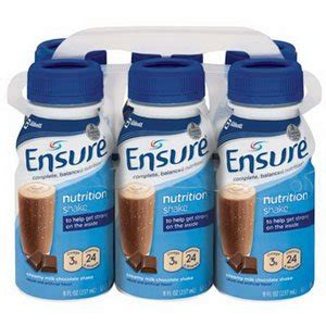 Formula Ensure abbott nutrition ensure milk chocolate shake retail 6pk