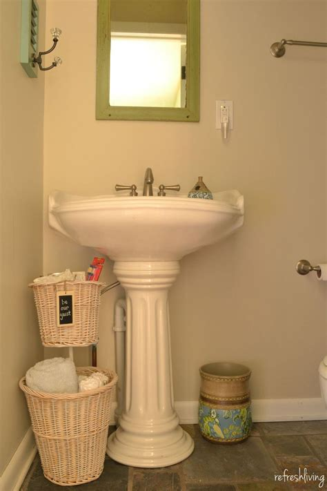Tiered Bathroom Storage Hometalk Tiered Bathroom Storage From Baskets