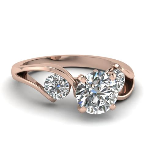 Tension Engagement Rings by Cut Engagement Rings With White Diamonds In