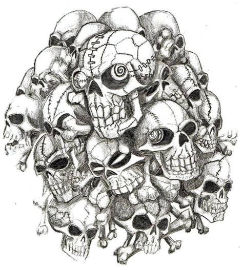 skull pile by sovereigntears on deviantart