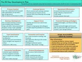 trigger strategies new hire 90 day development plan