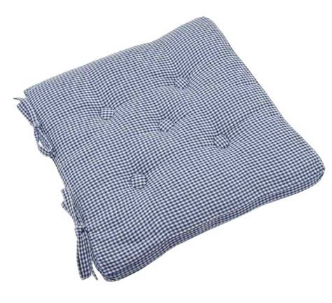 auberge buttoned nordic blue seat pad