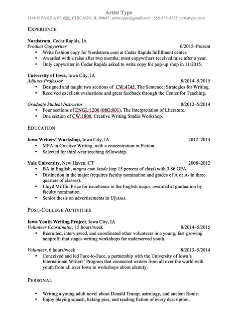 types of resume writing sle r 233 sum 233 and template 7sage admissions