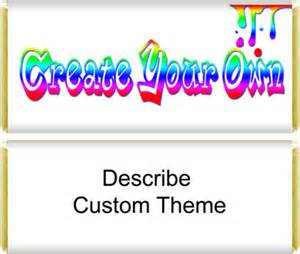 Custom birthday party candy bar wrappers