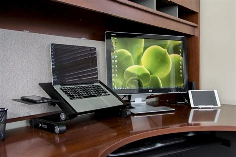 desk for laptop executive office solutions adjustable aluminum laptop stand
