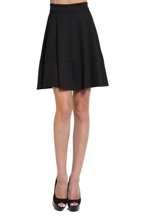 black a line skirt knee length dress