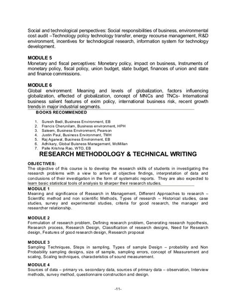 Mba User Research Course Syllabus by Syllabus Scientific Method And Business Research Methods