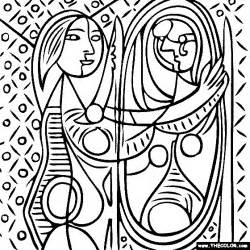 100 free coloring page of pablo picasso painting