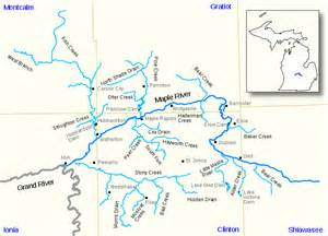 file maple river grand river watershed map us mi svg