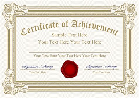 vector templates of certificates design set 05 vector