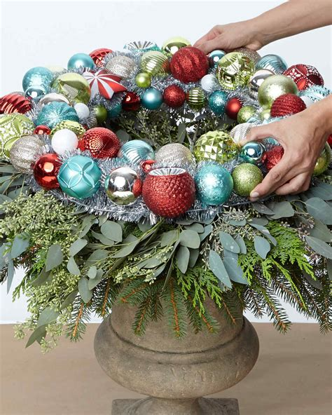 martha stewart white christmas ornaments ornament wreath urn martha stewart