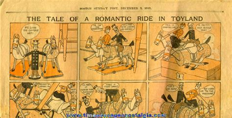 newspaper comic section december 3rd 1905 boston sunday post newspaper color