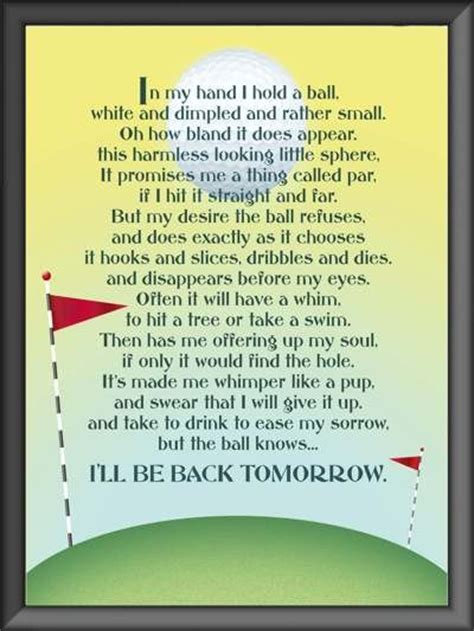 Great House Warming Gifts by Funny Golf Poem Great Gift Idea For Golfer