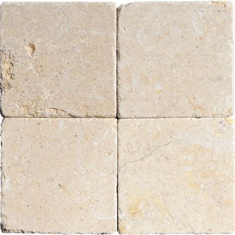 seashell tumbled limestone tiles 4x4 marble system inc