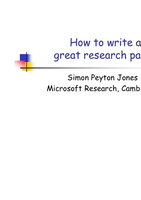How To Make Research Paper Presentation - write a research paper howto presentation