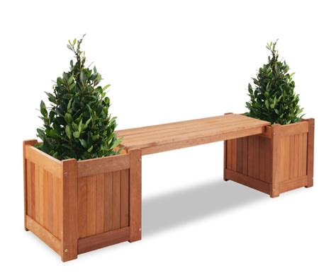 wooden bench planter boxes earlywood 2 seater hardwood planter box 1 7m garden bench