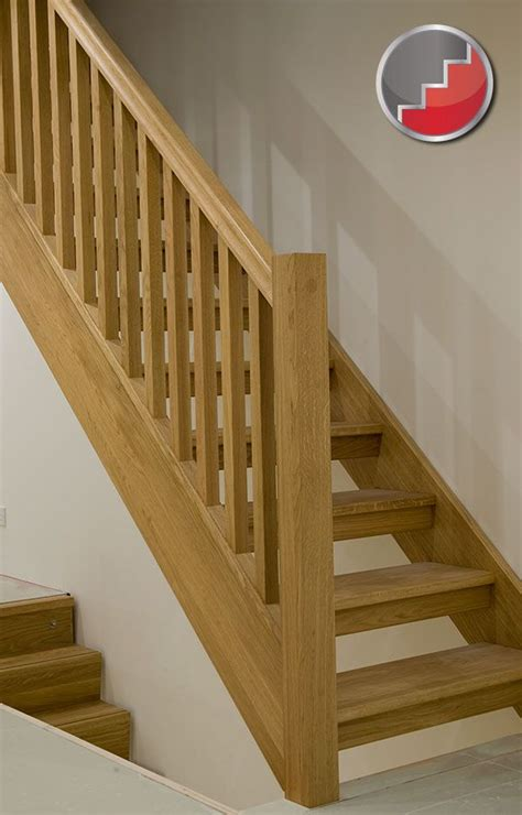wooden stair banister oak staircase with open risers compliant with uk building