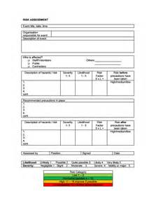 contract risk assessment template risk assessment form template