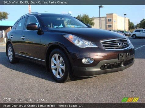 how to sell used cars 2010 infiniti ex on board diagnostic system dark current red 2010 infiniti ex 35 chestnut interior gtcarlot com vehicle archive