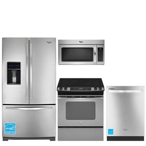 whirlpool kitchen appliance package whirlpool wrf736sdam ss stainless steel kitchen package