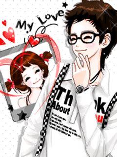 wallpaper animasi couple gambar animasi korea i love you anime cinta sejati couple