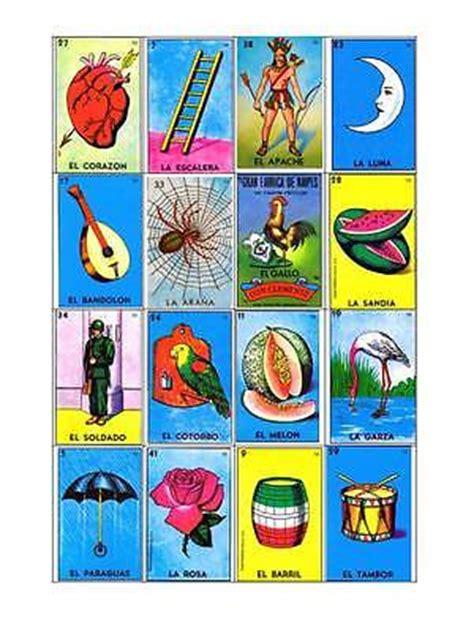 tablas de loteria mexicana para imprimir loteria mexicana 25 tablas digital para imprimir