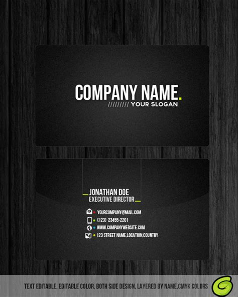 professional business card templates free professional business card free psd template by