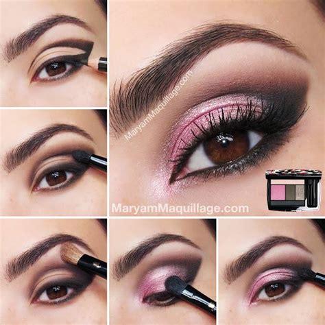 tutorial make up lipstik pink how to diy stunning hot pink smokey eye makeup tutorials