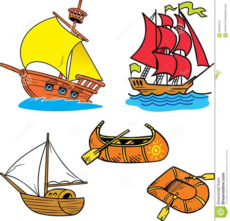 small cartoon house illustration shows done style isolated group of small ships stock vector illustration of outline